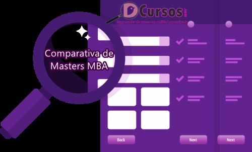 COMPARAR MASTERS MBA