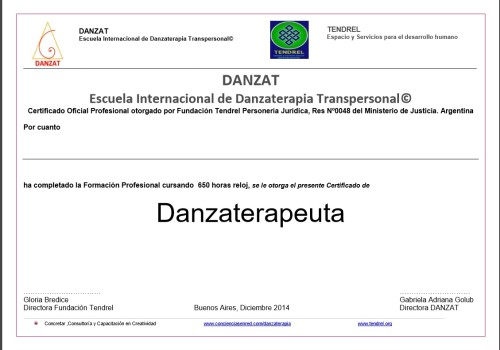 certificado-danzaterapeuta-tendrel-blanco