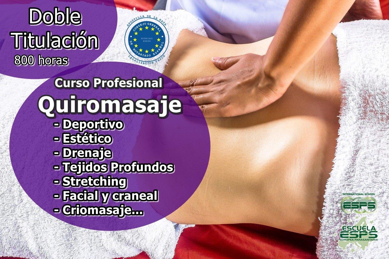curso de quiromasaje profesional escuela de masaje esps